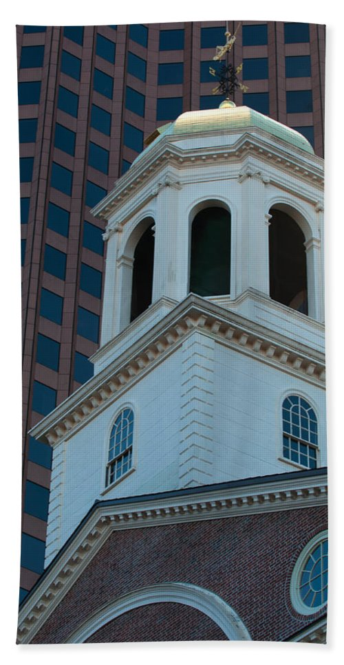 Boston Bath Sheet featuring the photograph Boston's North Meeting House by Paul Mangold