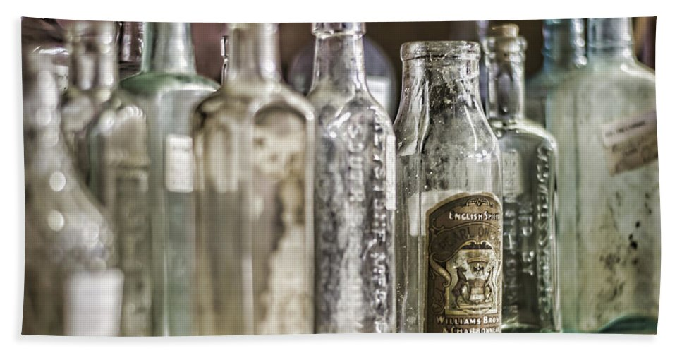 Bottle Bath Sheet featuring the photograph Bottle Collection by Heather Applegate