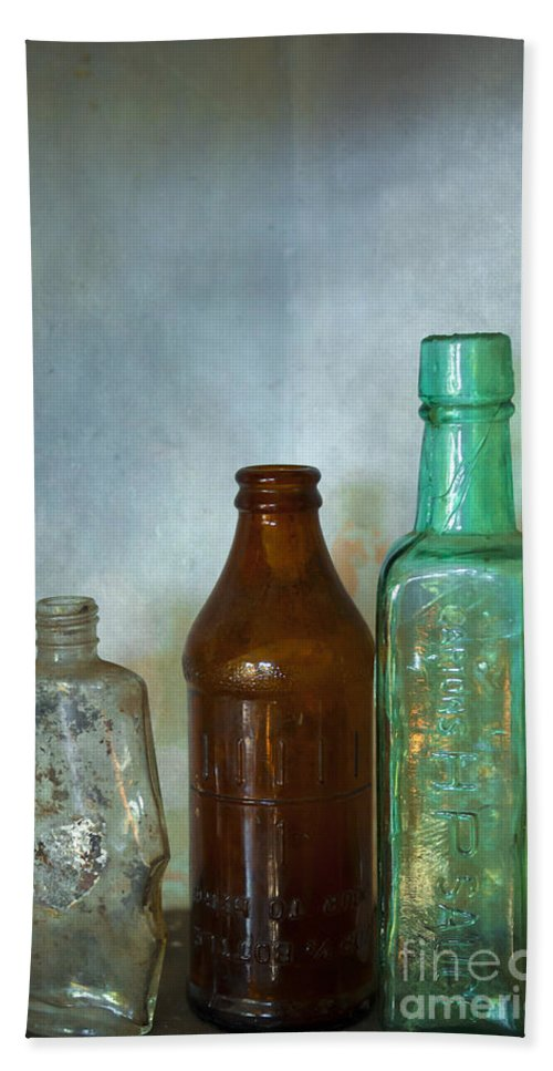 Blue Hand Towel featuring the photograph Bottles by Svetlana Sewell