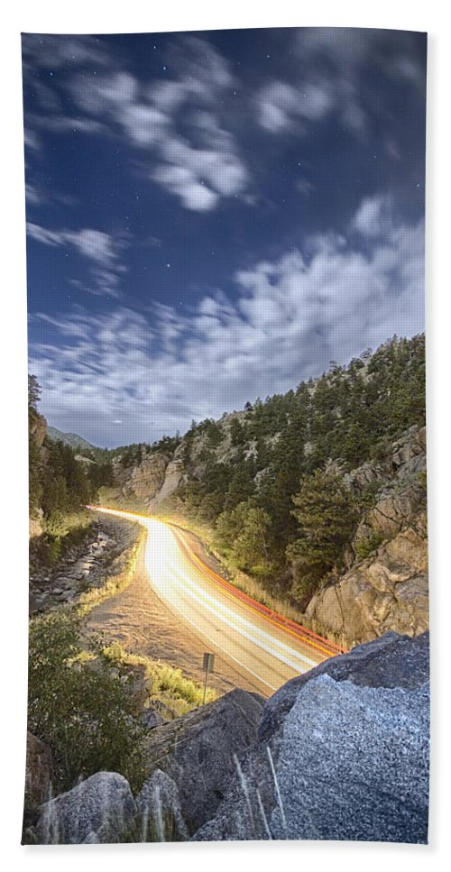 Night Bath Sheet featuring the photograph Boulder Canyon Dream by James BO Insogna