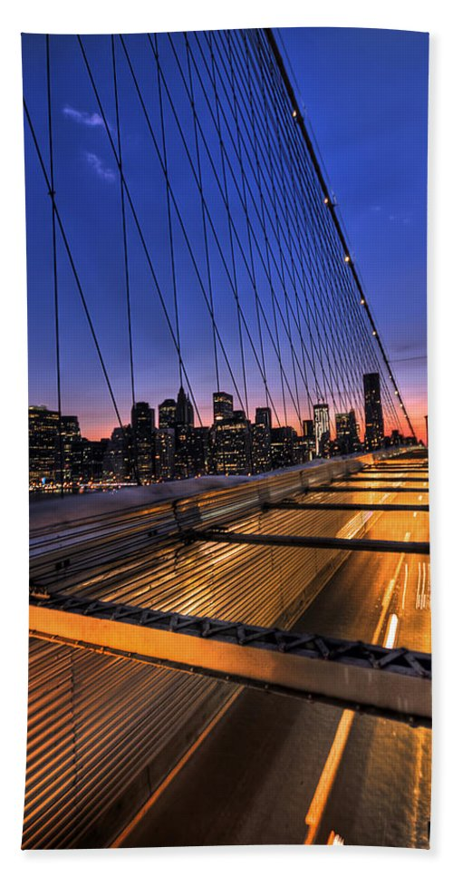 Brooklyn Bath Towel featuring the photograph Bound For Greatness by Evelina Kremsdorf