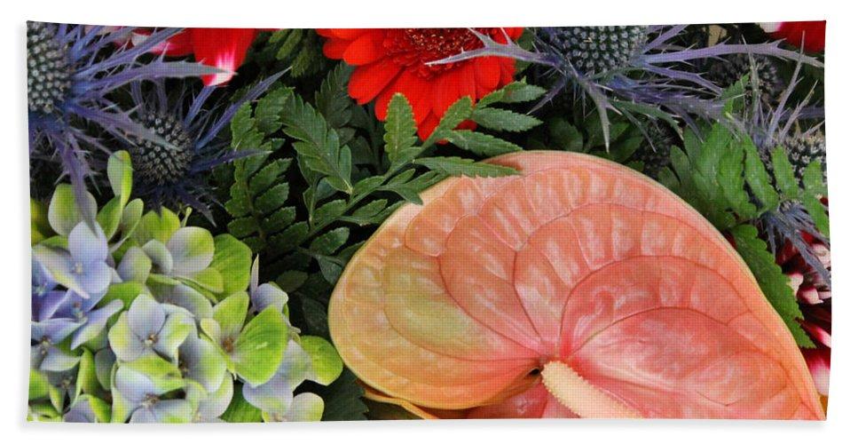 Flower Flowers Colorful Color Bouquets Bouquet Photograph Art Hand Towel featuring the photograph Bouquet Of Flowers by Steve K