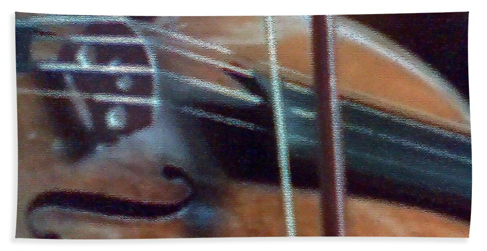 Violin Bath Sheet featuring the painting Bow And Strings by George Pedro