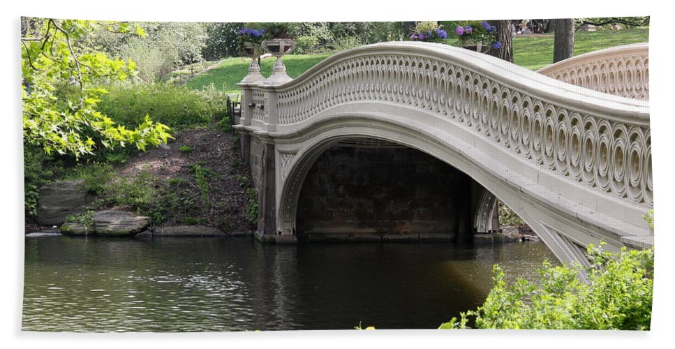 Bow Bridge Bath Sheet featuring the photograph Bow Bridge Iv by Christiane Schulze Art And Photography