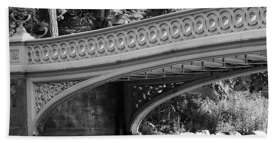 Bridge Bath Sheet featuring the photograph Bow Bridge Texture Bw by Christiane Schulze Art And Photography