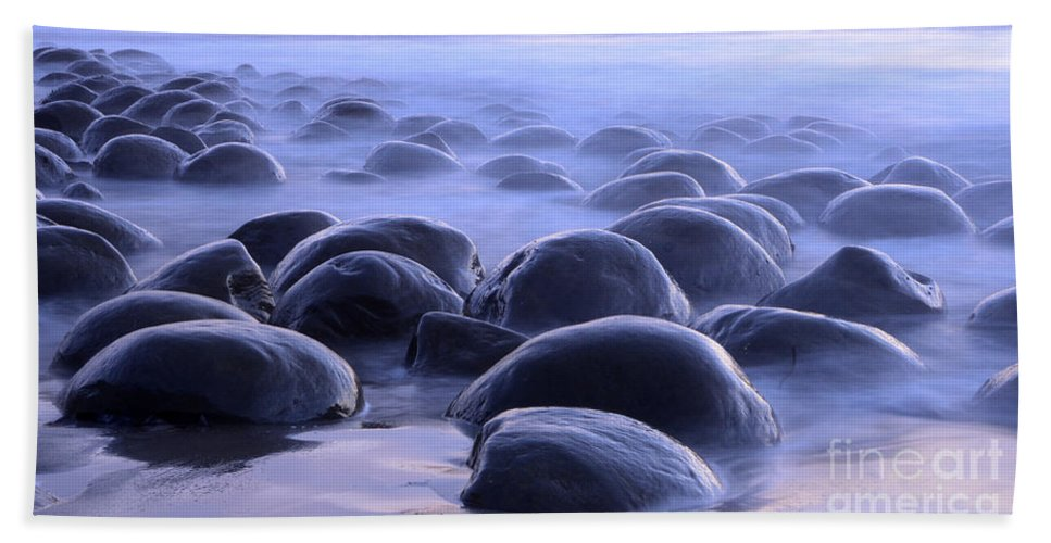 Bowling Ball Beach Hand Towel featuring the photograph Bowling Ball Beach California by Bob Christopher