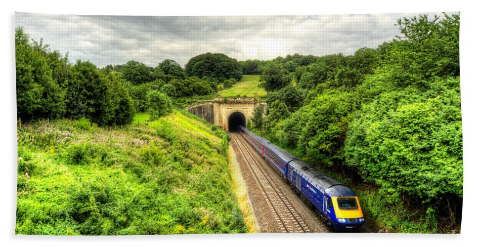 Box Hand Towel featuring the photograph Box Tunnel by Rob Hawkins