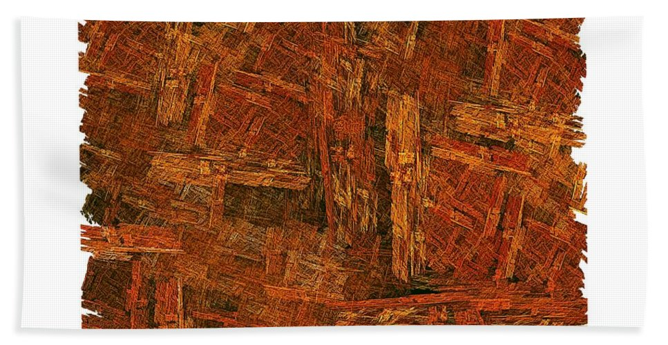 Fractal Wood Hand Towel featuring the digital art Boxed-in by Doug Morgan