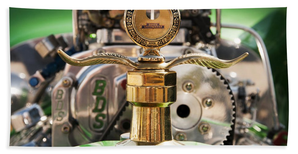 Boyce Motometer Bath Sheet featuring the photograph Boyce Motometer by Vivian Christopher