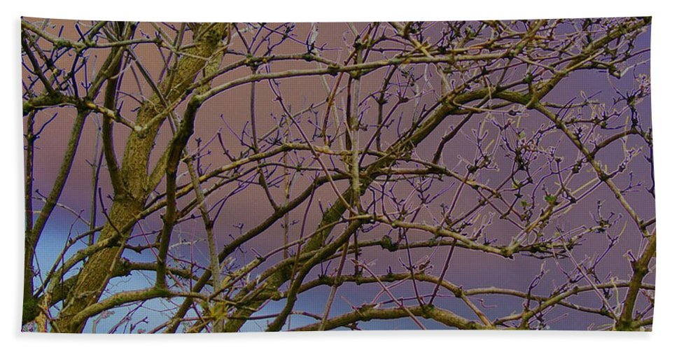 Branches Bath Sheet featuring the digital art Branches by Carol Lynch
