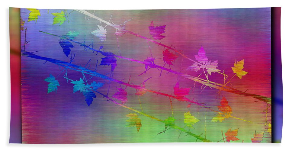 Abstract Hand Towel featuring the digital art Branches In The Mist 17 by Tim Allen