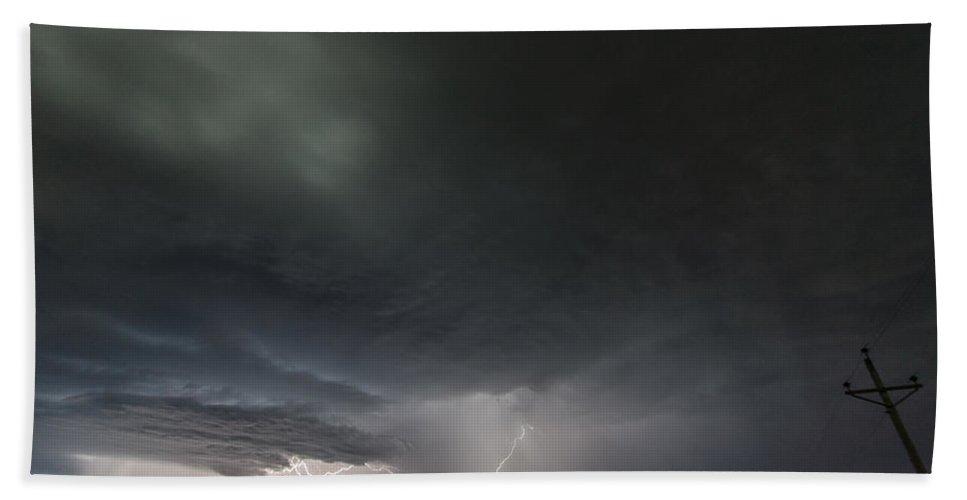 Lightning Bath Sheet featuring the photograph Branchwork by Paul Brooks
