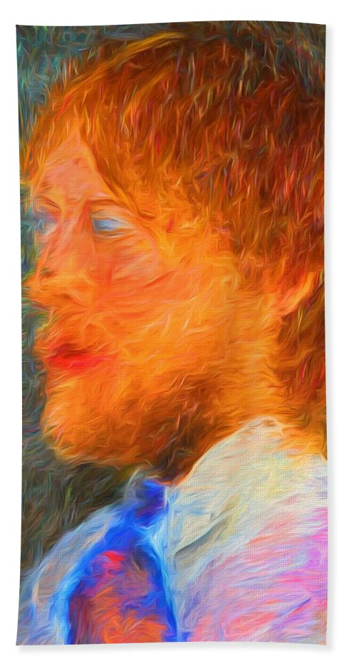 Abstract Portrait Bath Sheet featuring the photograph Brandon James by Alice Gipson