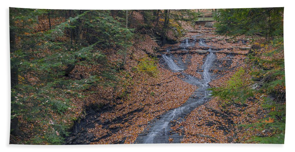 Background Bath Sheet featuring the photograph Bridal Vail Falls - Cvnp by Jack R Perry