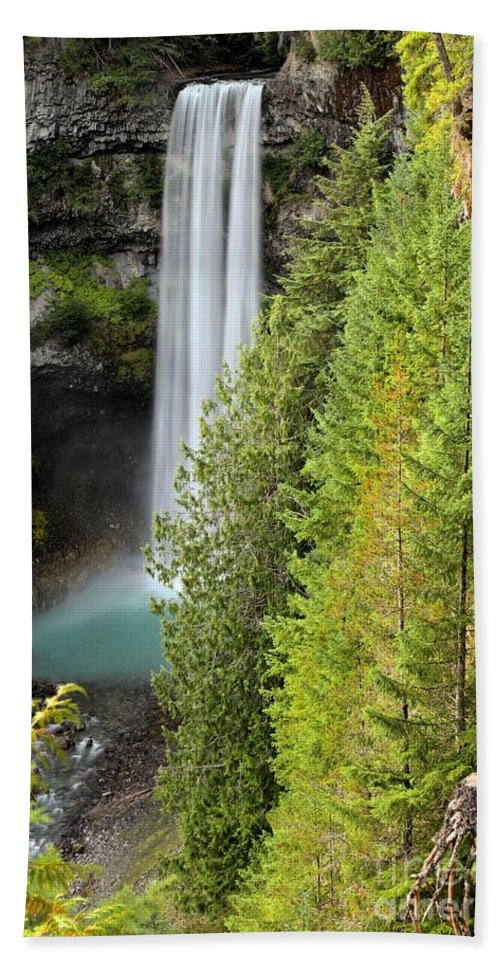 Brandywine Falls Bath Sheet featuring the photograph Brandywine Through The Trees by Adam Jewell