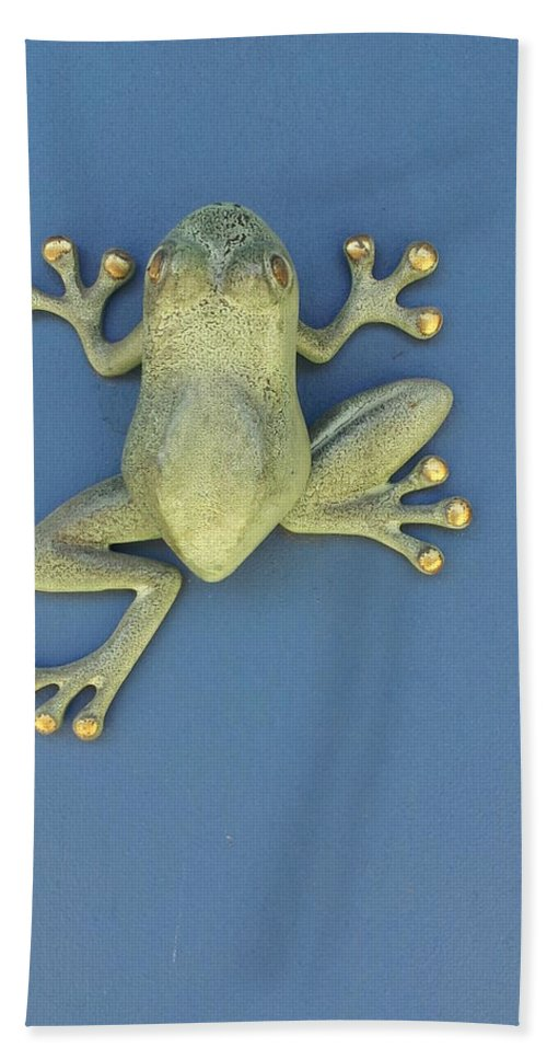 Found On A Door Hand Towel featuring the photograph Brass Frog by Zac AlleyWalker Lowing