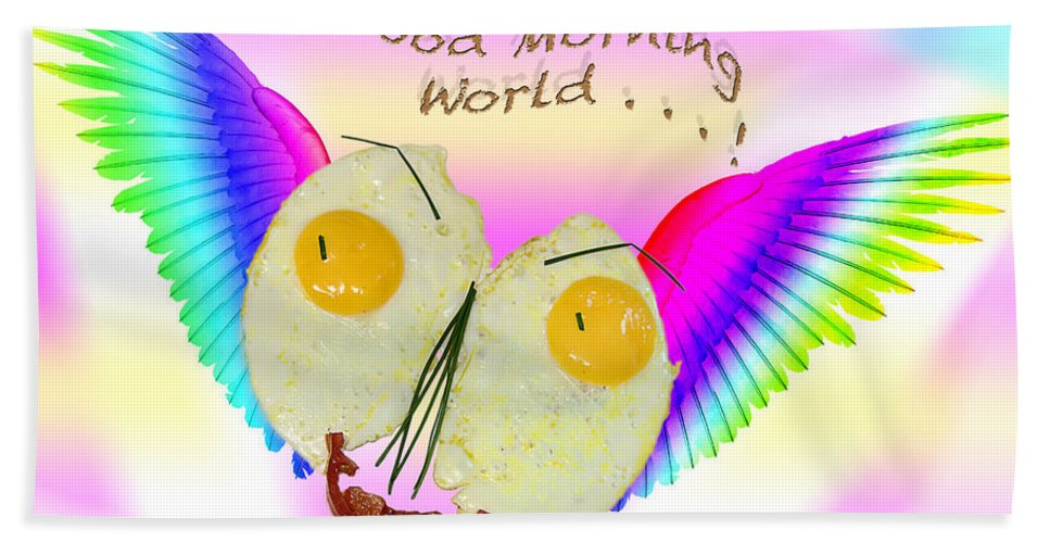Egg Bath Sheet featuring the photograph Breakfast Art by Ronel Broderick