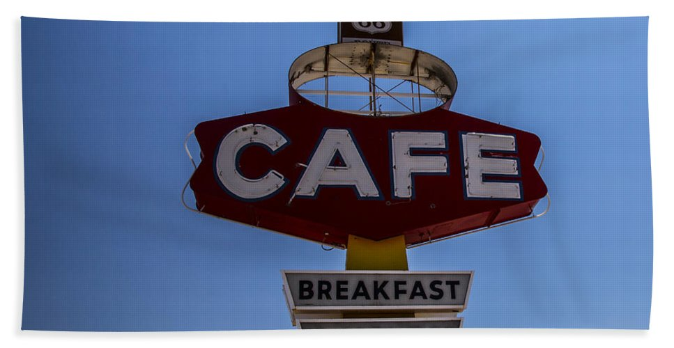 Route 66 Hand Towel featuring the photograph Breakfast Lunch Dinner by Angus Hooper Iii