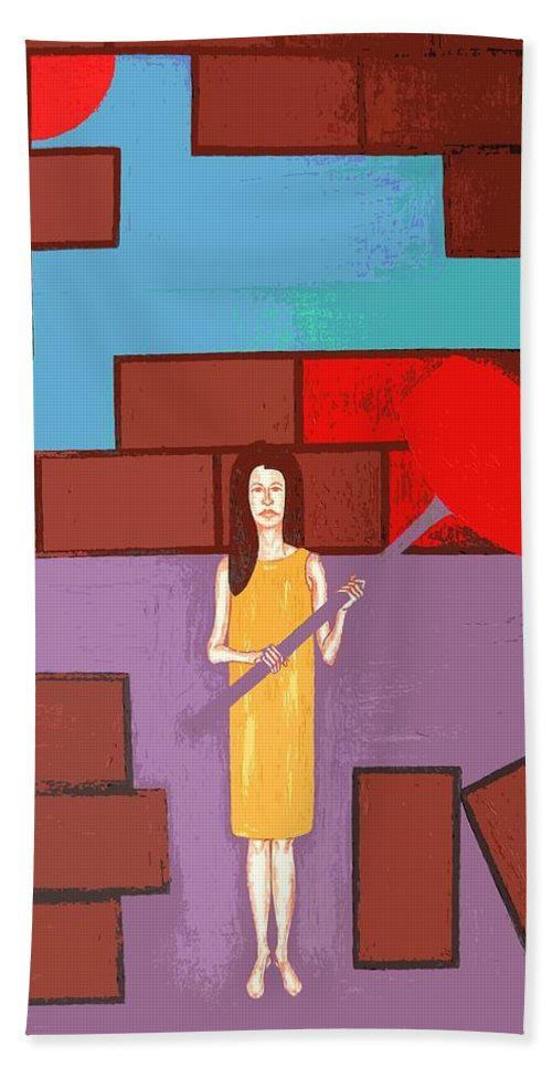 Art Bath Towel featuring the painting Breakthrough by Patrick J Murphy