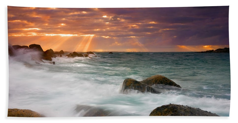 Dawn Hand Towel featuring the photograph Breathtaking by Mike Dawson
