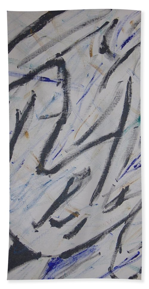 Simple Bath Sheet featuring the painting Breezy by Dean Stephens