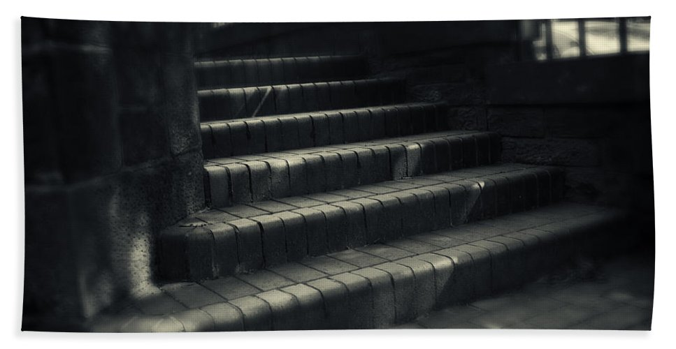 Stairs Hand Towel featuring the photograph Brick Steps by David Hare
