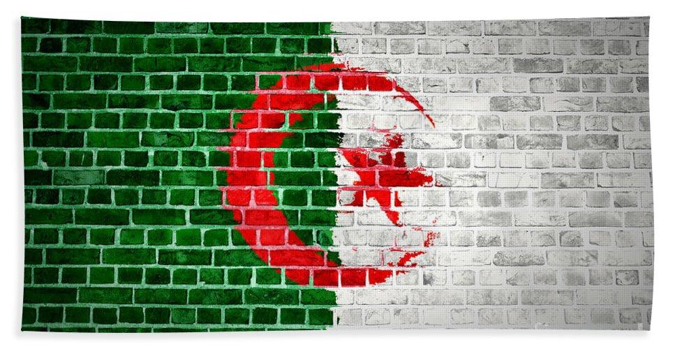 Algeria Bath Sheet featuring the digital art Brick Wall Algeria by Antony McAulay