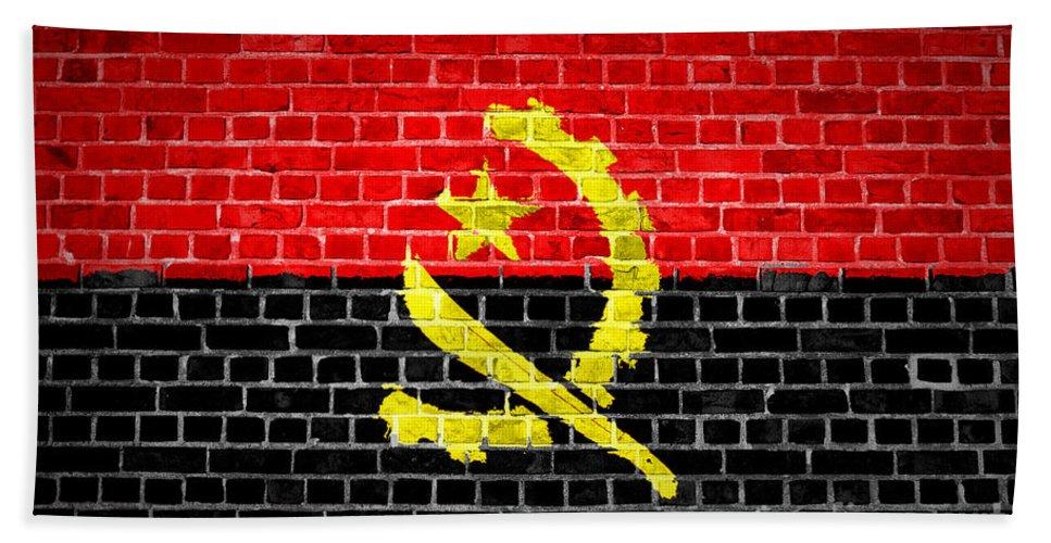 Angola Bath Sheet featuring the digital art Brick Wall Angola by Antony McAulay