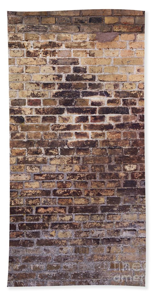 Brick Hand Towel featuring the photograph Brick Wall by Sophie McAulay