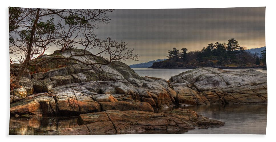 Landscape Bath Sheet featuring the photograph Tranquil Waters by Randy Hall