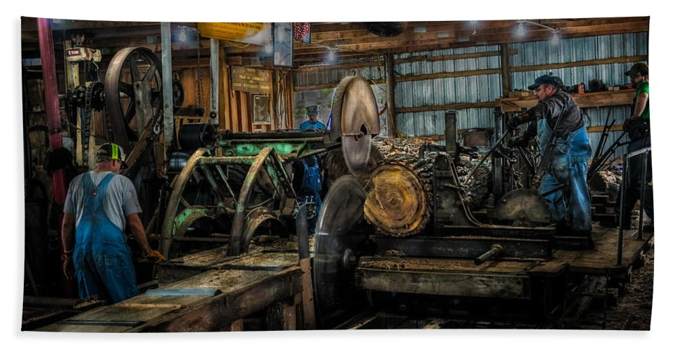 Briden-roen Sawmill Bath Sheet featuring the photograph Briden-roen Sawmill by Paul Freidlund
