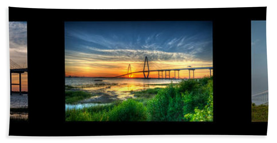 � Dale Powell Photography Bath Sheet featuring the photograph Bridge 3 by Dale Powell