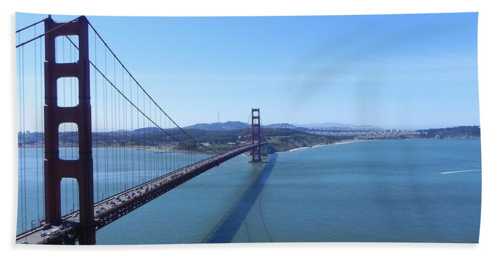American Bath Sheet featuring the photograph Bridge America by FL collection