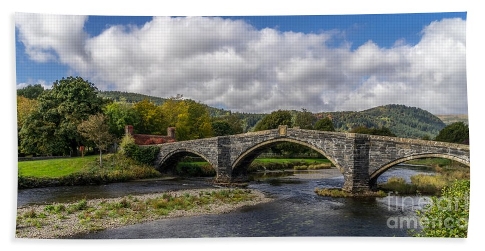 Pont Fawr Hand Towel featuring the photograph Bridge Of Swearing by Adrian Evans