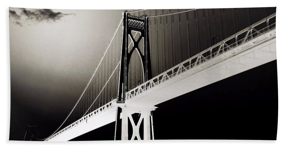 Hudson River Bath Sheet featuring the photograph Bridge To Poughkeepsie 2 by Chet B Simpson