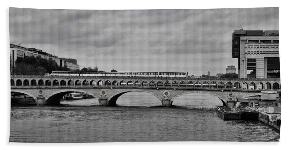 Paris Bath Sheet featuring the photograph Bridges In Paris by Paris France