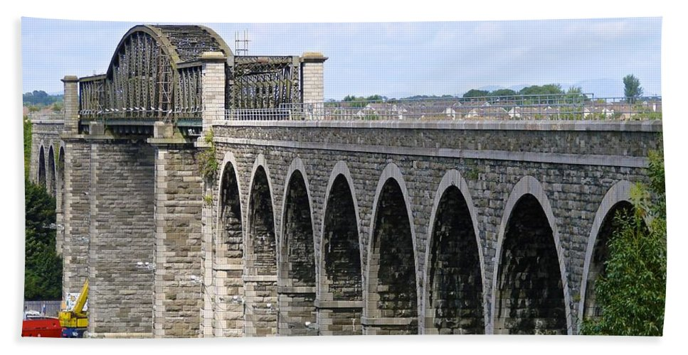 Viaduct Hand Towel featuring the photograph Bridging The Boyne by Charlie and Norma Brock