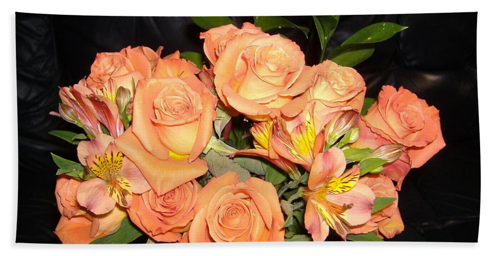 Rose Hand Towel featuring the photograph Bright Roses by Nathanael Smith
