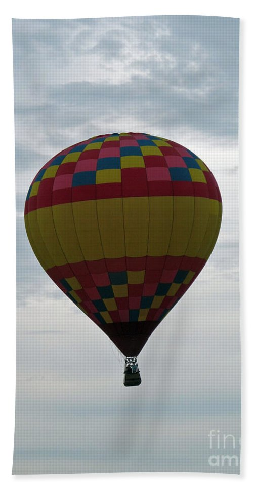 Hot Air Balloons Bath Sheet featuring the photograph Brilliant Cloudiness by Jamie Smith