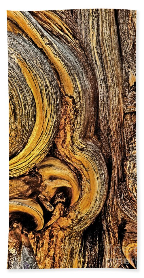 Bristlecone Pine Bath Towel featuring the photograph Bristlecone Pine Bark Detail White Mountains Ca by Dave Welling