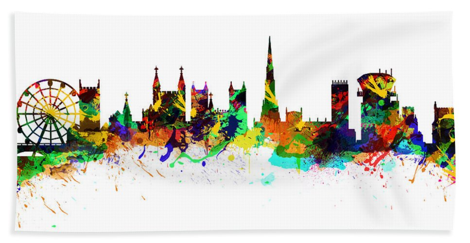 Bristol Hand Towel featuring the photograph Bristol England by Chris Smith