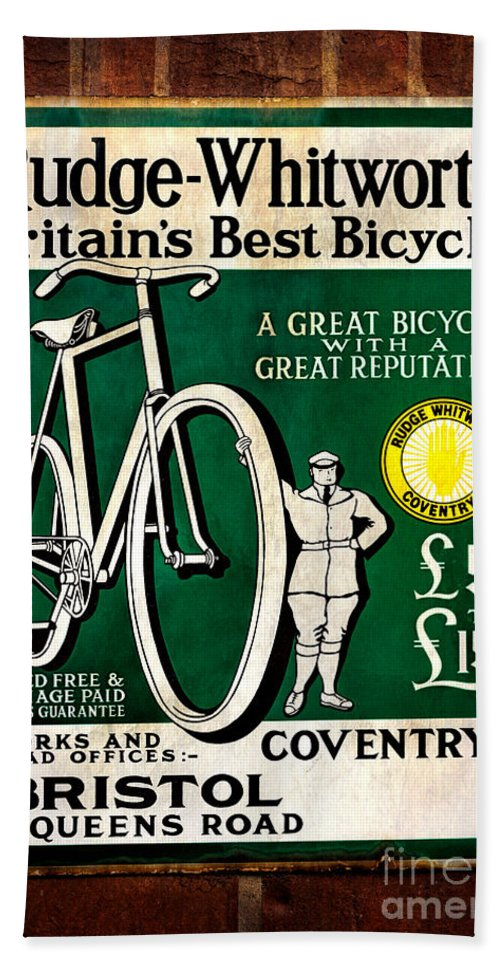 Advertising Sign Hand Towel featuring the photograph Britains Best Bicycle by Adrian Evans