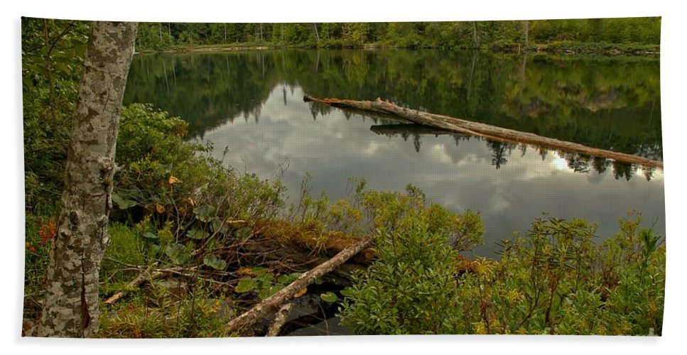 Starvation Lake Hand Towel featuring the photograph British Columbia Starvation Lake by Adam Jewell