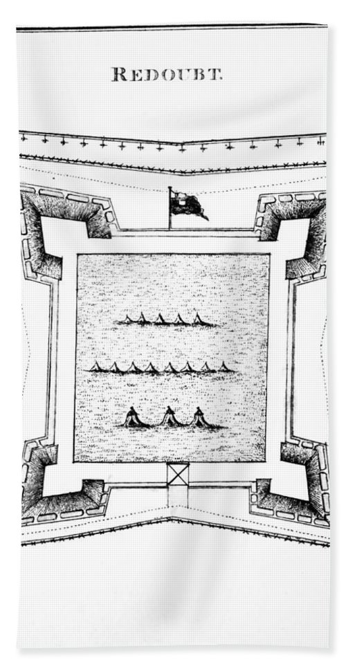 1770s Hand Towel featuring the photograph British Redoubt, 1777 by Granger
