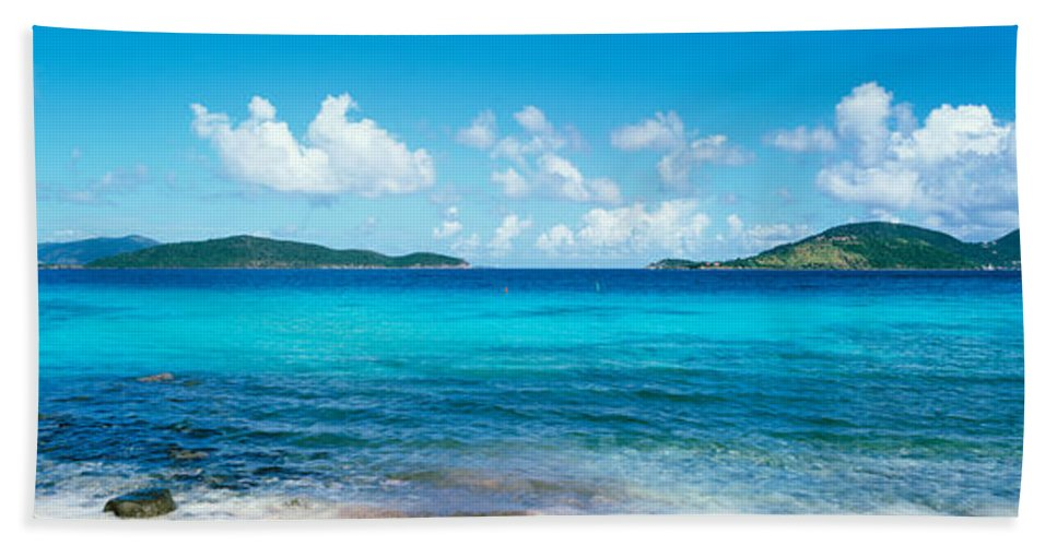 Photography Bath Sheet featuring the photograph British Virgin Islands, St. John, Sir by Panoramic Images