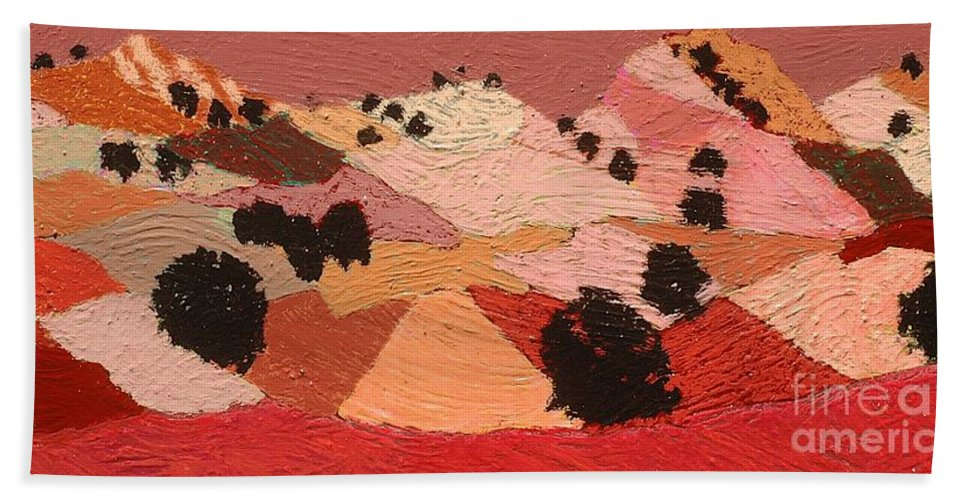 Landscape Bath Sheet featuring the painting Broad View by Allan P Friedlander