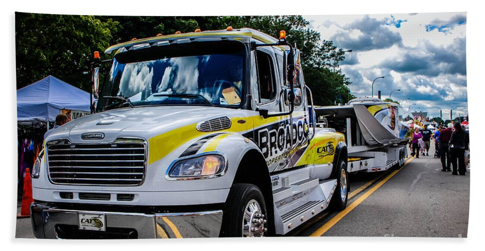 Broadco Hand Towel featuring the photograph Broadco Semi by Grace Grogan