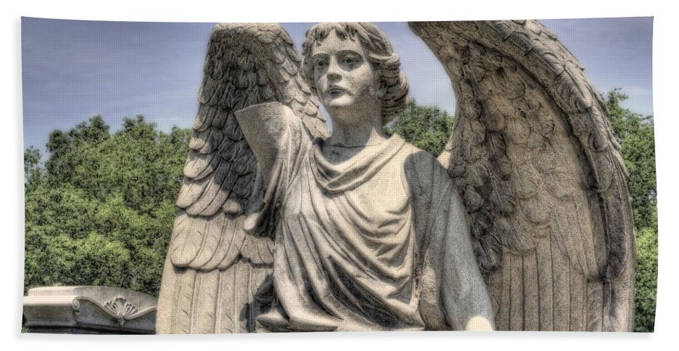 Angel Hand Towel featuring the photograph Broken Angel by David B Kawchak Custom Classic Photography