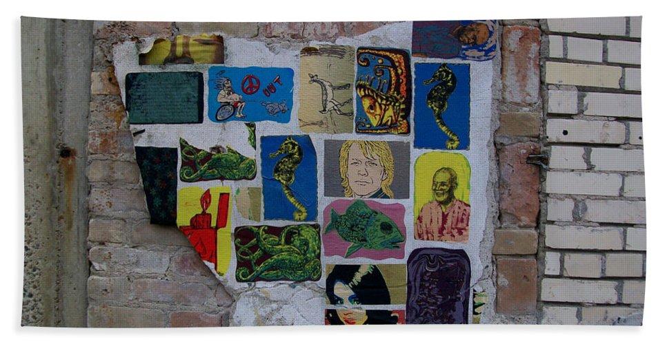 Lichtenstein Building Hand Towel featuring the photograph Broken Collage by Laurette Escobar