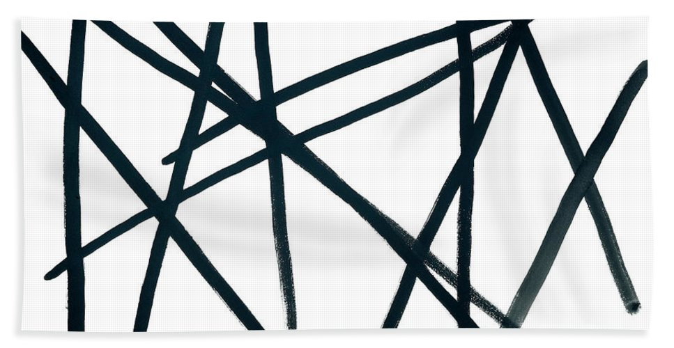 Contemporary Hand Towel featuring the painting Broken Fence by Bjorn Sjogren